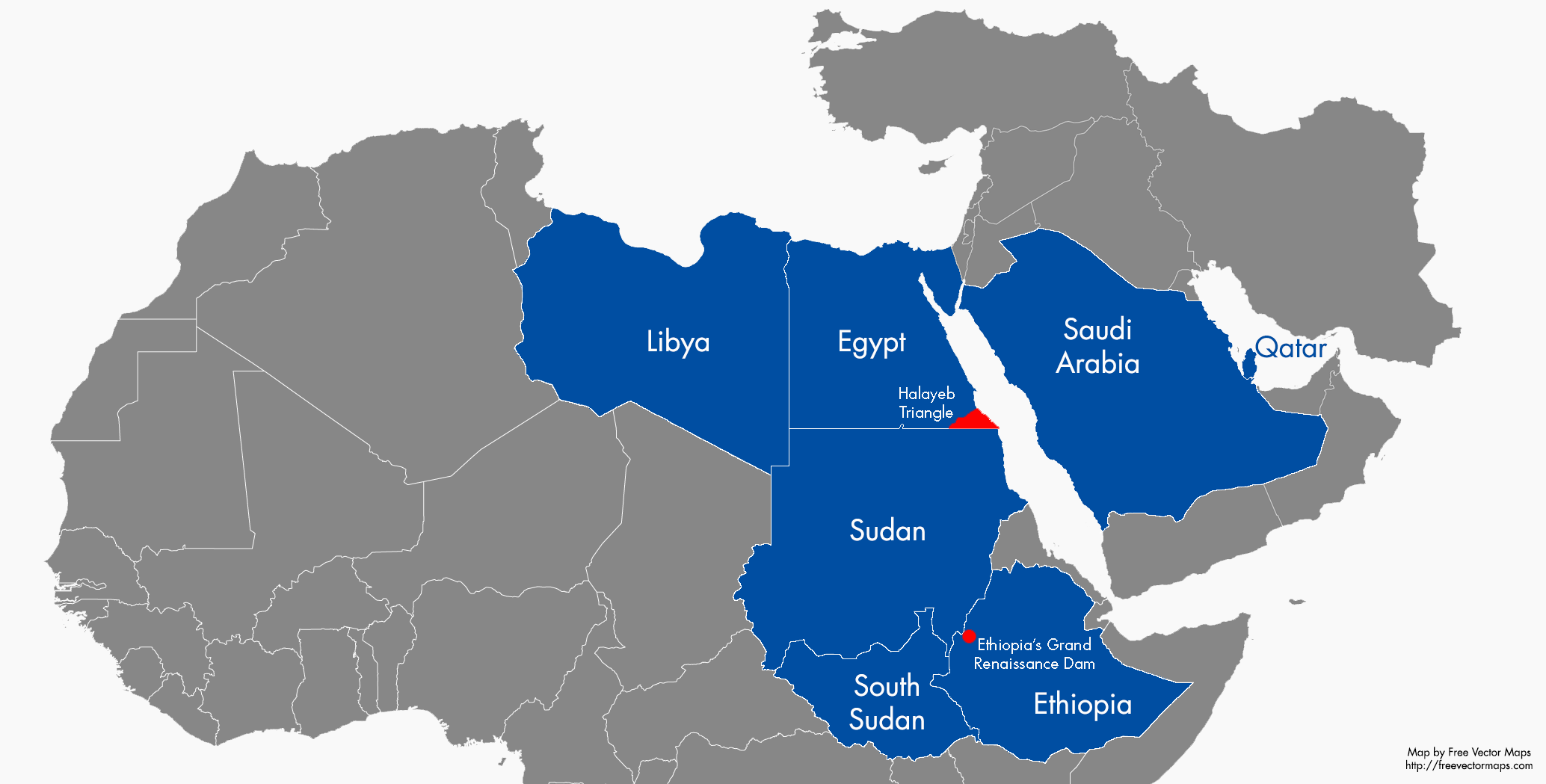 Do Egypt And Sudan Have Anything In Common Anymore ISS Africa - Map of qatar and egypt