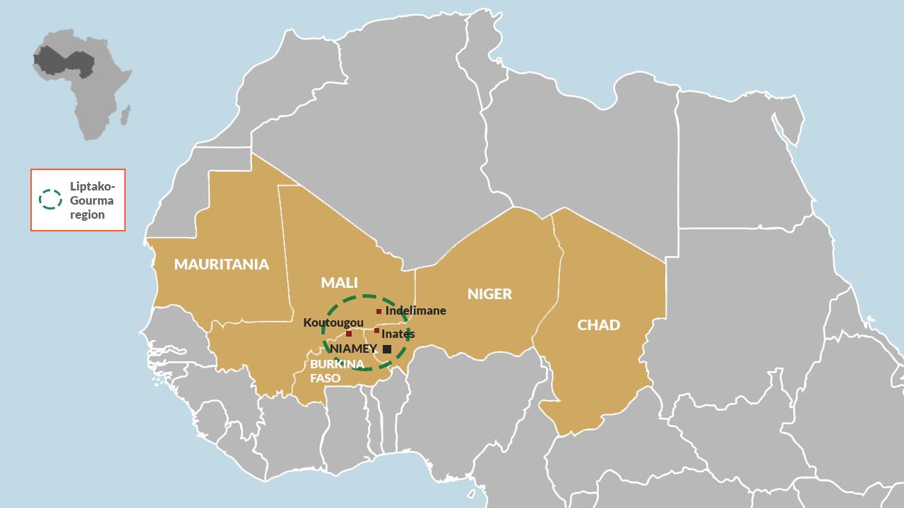 Liptako-Gourma region in the Sahel