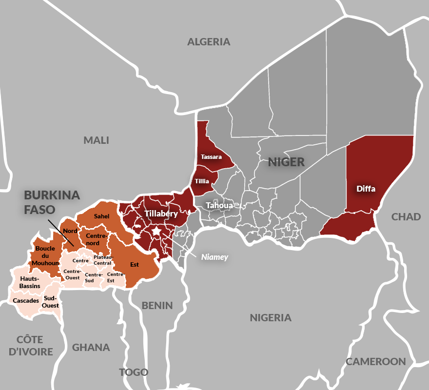 Burkina Faso and Niger