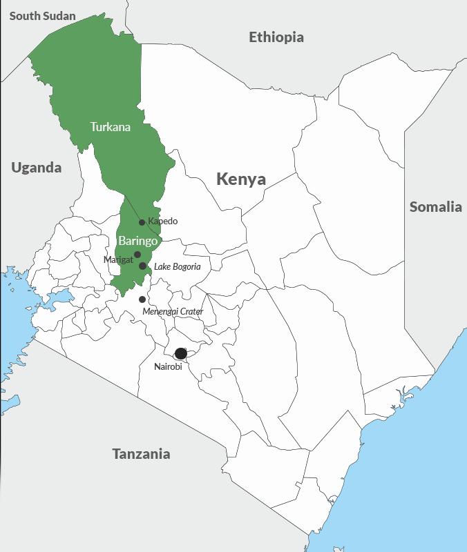 Disputed Kapedo area in Kenya