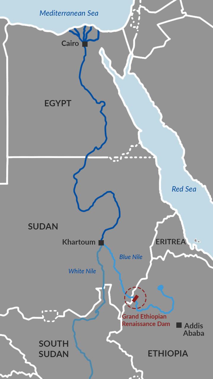 GERD dam on the Blue Nile