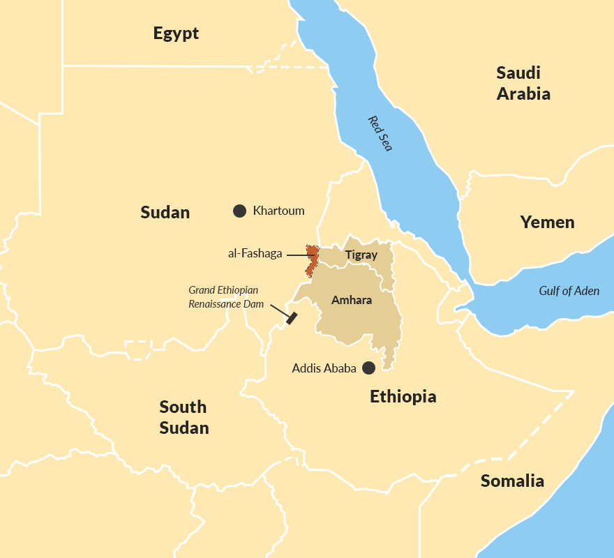 Disputed al-Fashaga area</p> <p>&nbsp