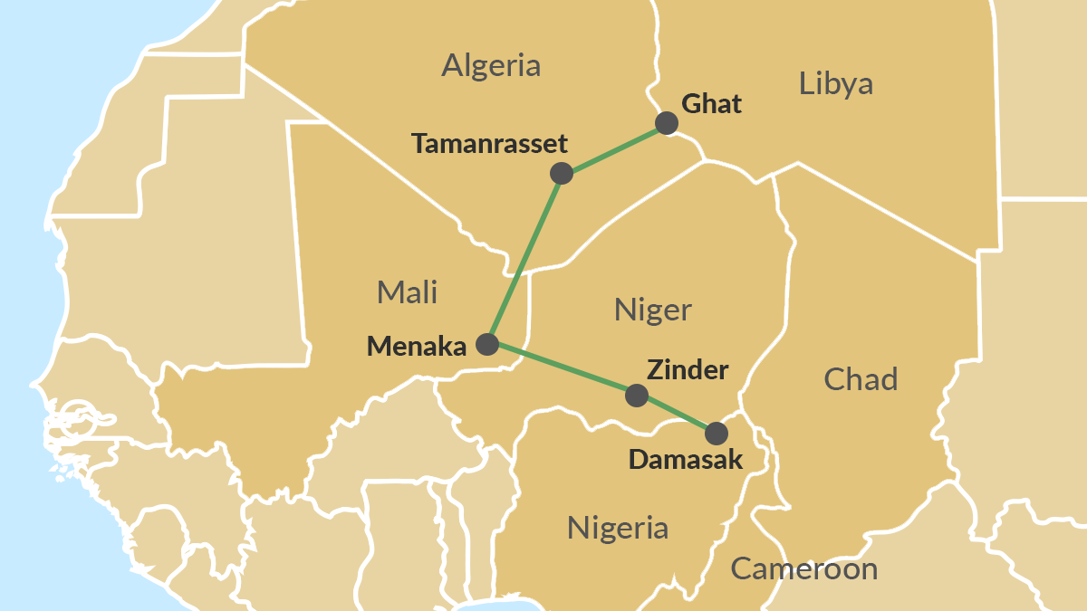 ISWAP route to and from Libya and the Lake Chad Basin region