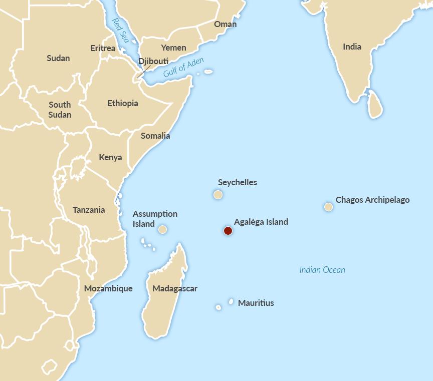 Mauritius' Agaléga island in the South-West Indian Ocean