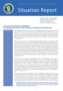 Attractive This Situation Report Aims To Provide A Snapshot Of The Current Situation  In The Ituri District In The North Eastern Region Of The Democratic  Republic Of ...